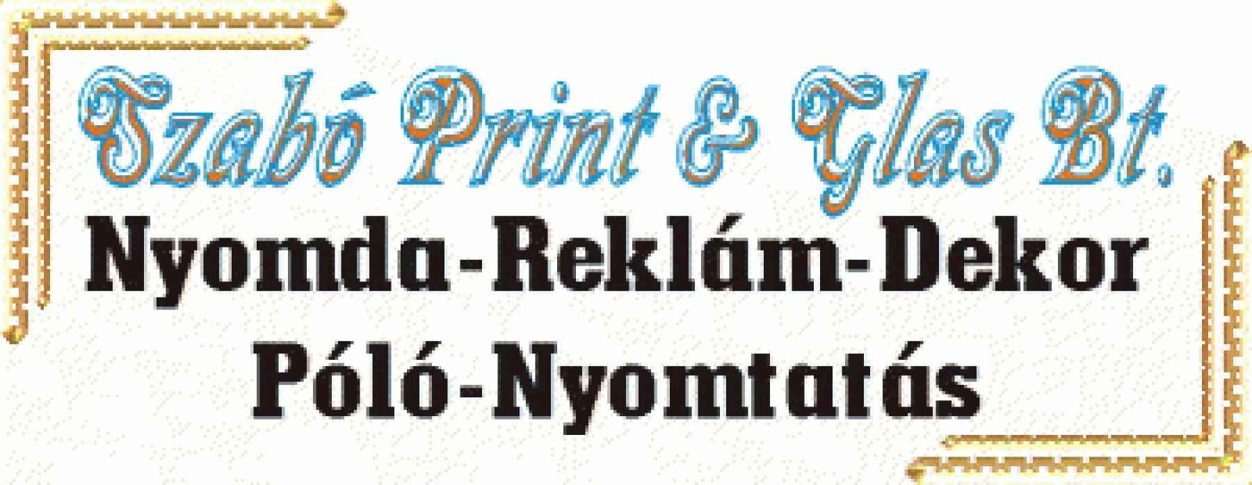 Szabó Print & Glas Bt. logója